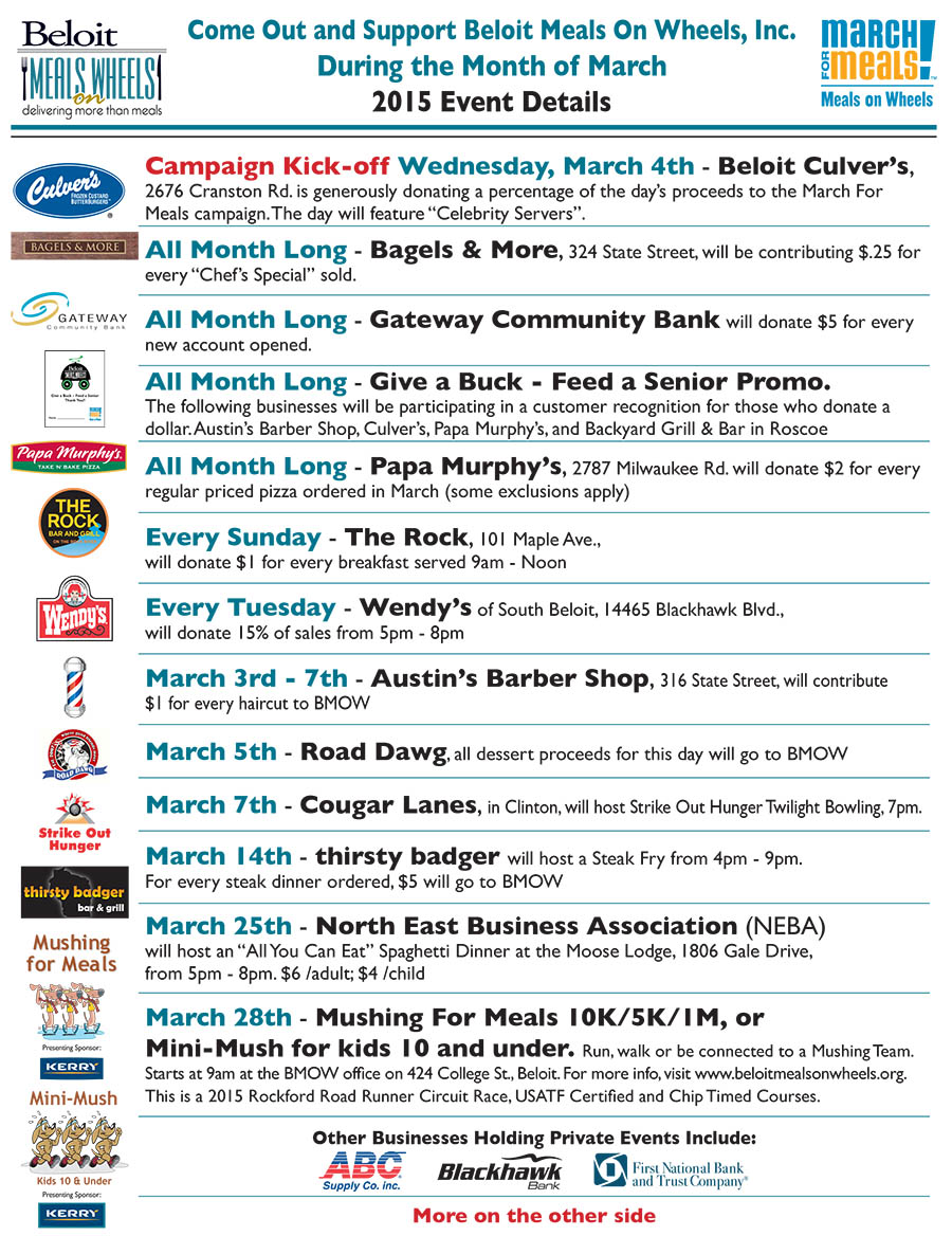 March For Meals Events