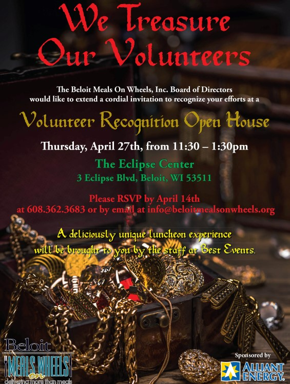 Volunteer Recognition Open House @ The Eclipse Center | Beloit | Wisconsin | United States