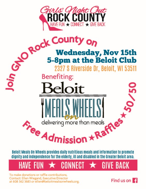 Girls' Night Out Rock County November event to benefit Beloit Meals on Wheels