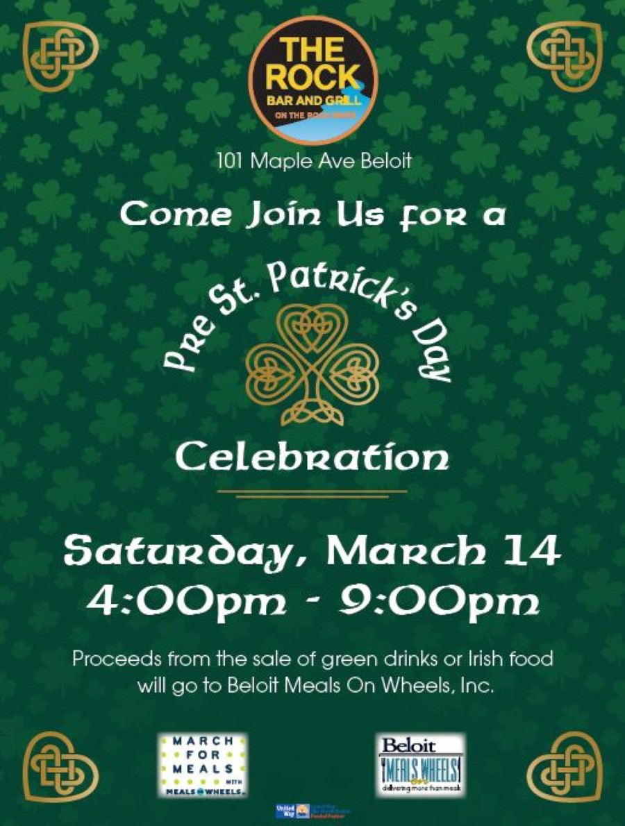 Pre-St. Patrick Day Celebration The Rock - March for Meals Event @ The Rock Bar & Grill | Beloit | Wisconsin | United States