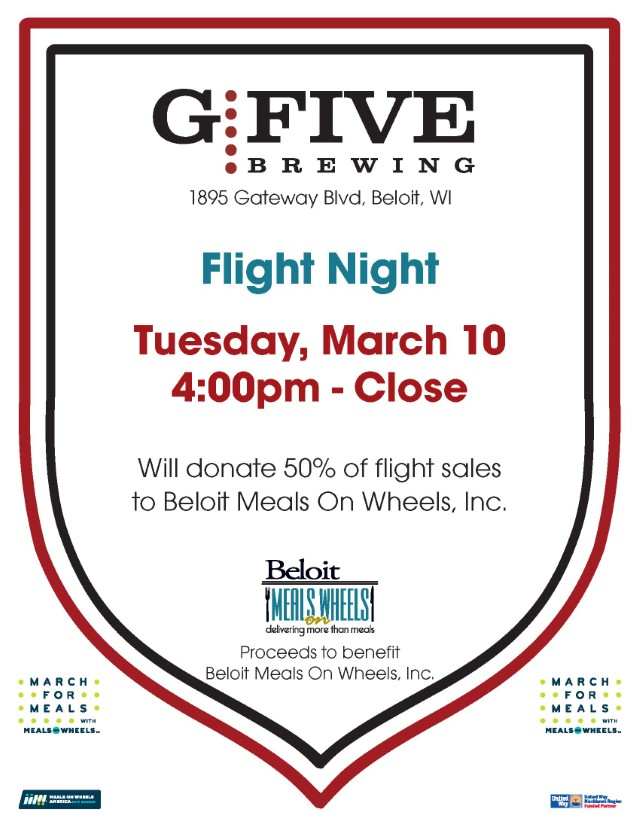 G5 Flight Night - March For Meals Event @ G5 Brewing Company | Beloit | Wisconsin | United States