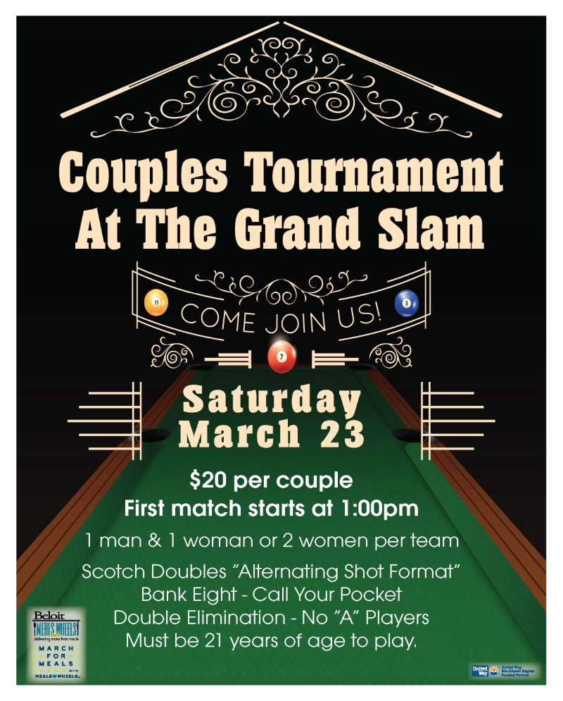 Grand Slam Pub Pool Tournament - March For Meals Event @ The Grand Slam Pub | Beloit | Wisconsin | United States