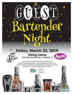 Guest Bartender Night at Vikings Lane - March For Meals Event @ Bushel & Pecks | Beloit | Wisconsin | United States