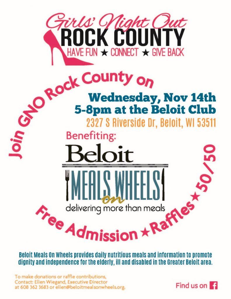 Girls' Night Out Rock County Benefit for Beloit MOW @ The Beloit Club | Beloit | Wisconsin | United States